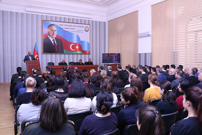 Dövlət Xidmətində 20 Yanvar şəhidləri yad edilib