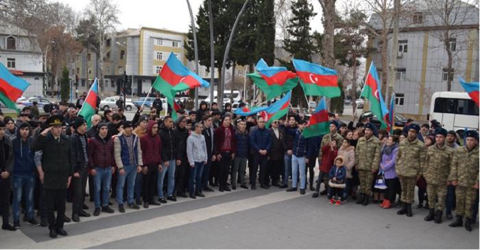 Mingəçevirdə çağırışçılar hərbi xidmətə yola salındılar