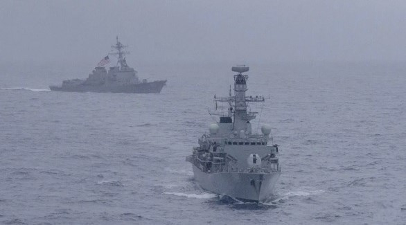 تدريبات مشتركة بين أمريكا وبريطانيا في بحر الصين الجنوبي