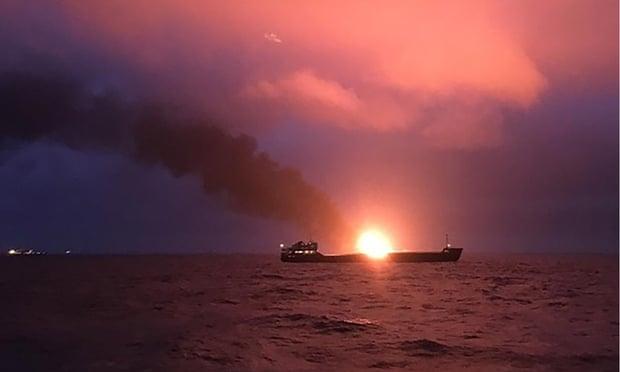 Crimea ship blaze: 10 dead after cargo vessels catch fire in Kerch Strait