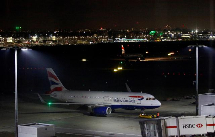 Drone reports temporarily halt flights from London