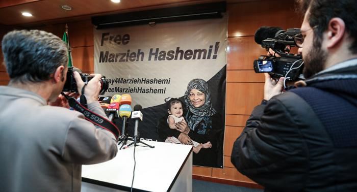 """La periodista iraní Hashemi fue detenida en EEUU como una """"testigo importante"""""""