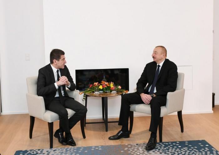 President Aliyev meets Lazard Freres CEO in Davos