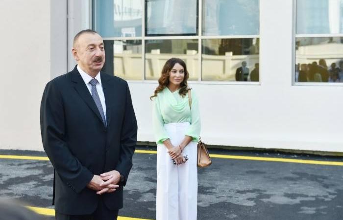 Ilham Aliyev inaugure un nouvel hôpital dans le bourg de Goboustan