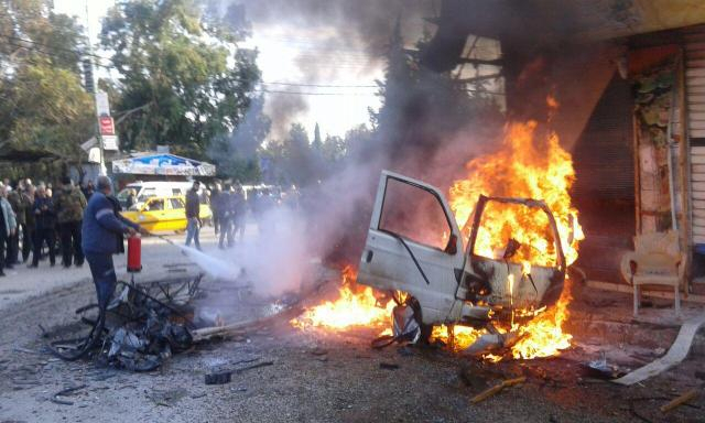 At least 14 died, 28 injured in car bomb explosion in southwest Syria