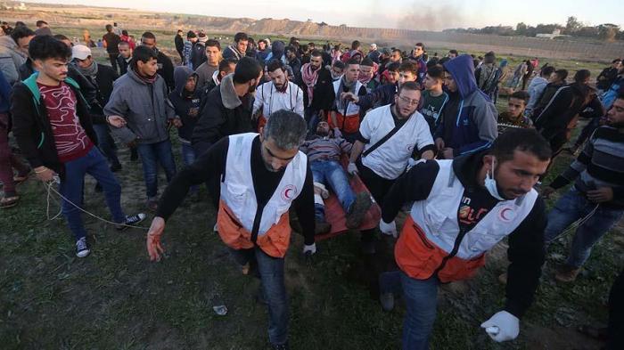 İsrail əsgərləri 30 fələstinlini yaralayıb - FOTO