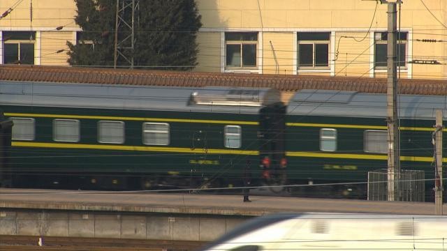 Train believed to be carrying North Korea