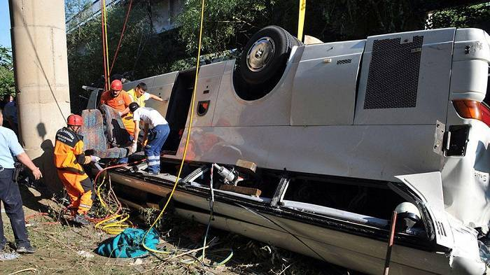 Meksikada turist avtobusu aşıb - 35 yaralı