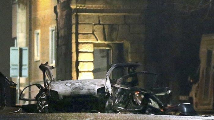 VIDEO  : El momento de la explosión de un coche bomba en Irlanda del Norte