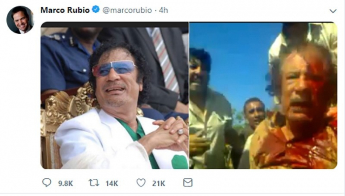 Senator Rubio recalls Gadhafi's fate as US threats mount on Maduro