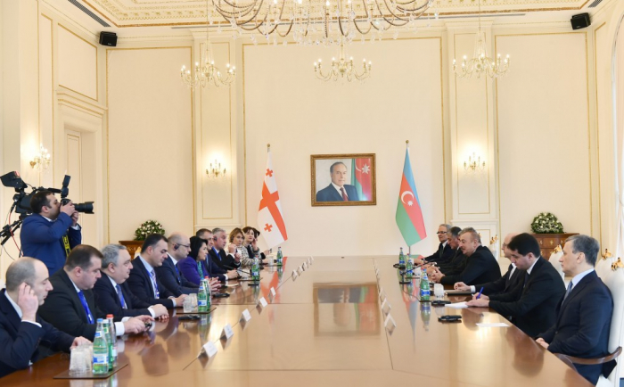 Azerbaijani, Georgian presidents hold expanded meeting -  UPDATED