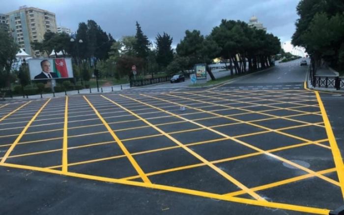 Bakıda 74 yol kəsişməsində sarı tor çəkilir