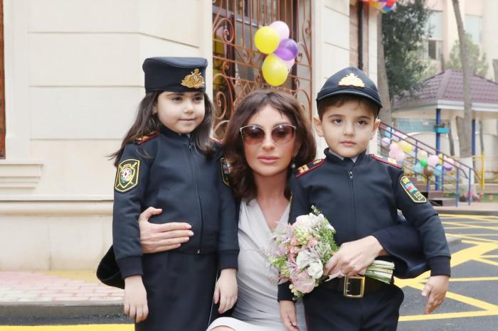 Mehriban Əliyeva uşaq bağçasının açılışında - FOTOLAR