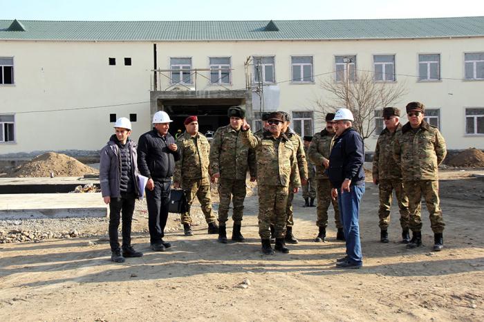 Azerbaijani defense minister visits several military facilities under construction - PHOTOS