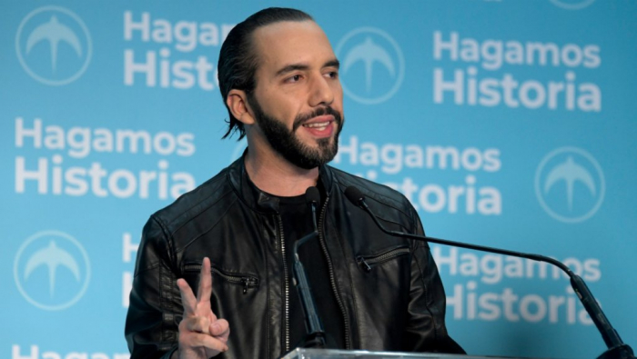 El Salvador's Bukele declares first round victory in presidential election