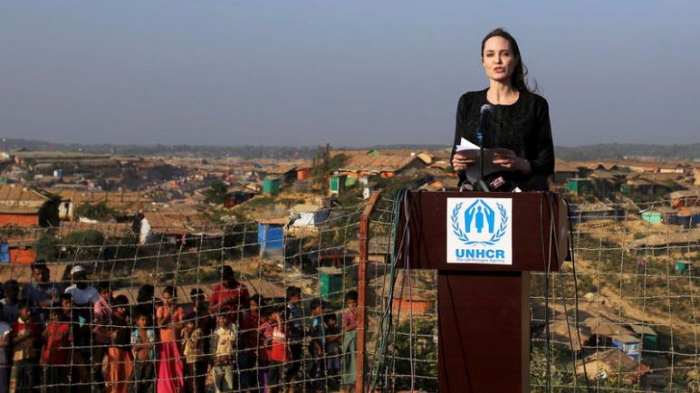 Angelina Jolie visits Rohingya camps, says refugees
