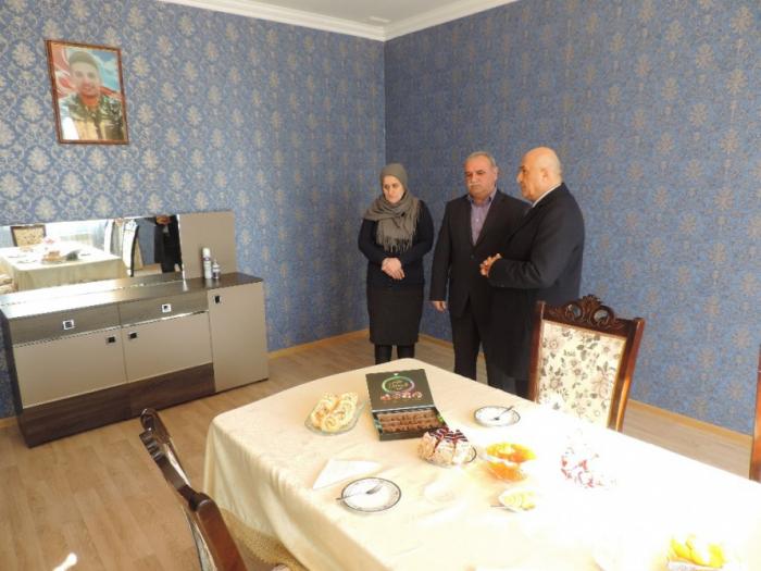 Çingiz Qurbanovun ailəsi yeni evlə təmin olunub - FOTOLAR+VİDEO