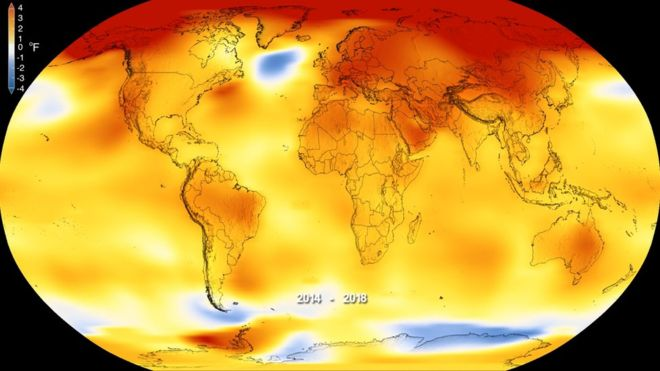Climate change: World heading for  warmest decade  , says Met Office