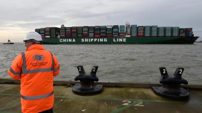 Britische Waren drohen in Asien zu stranden