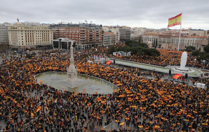 Thousands protest in Madrid against government