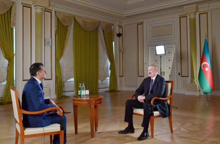 Ilham Aliyev accorde une interview à Real TV