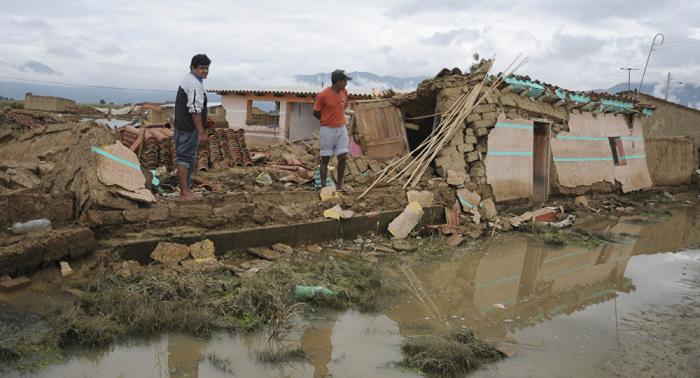Declaran alerta roja en tres departamentos de Bolivia por inminentes inundaciones