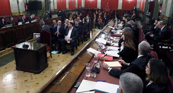 Arranca el juicio a los líderes independentistas catalanes en Madrid