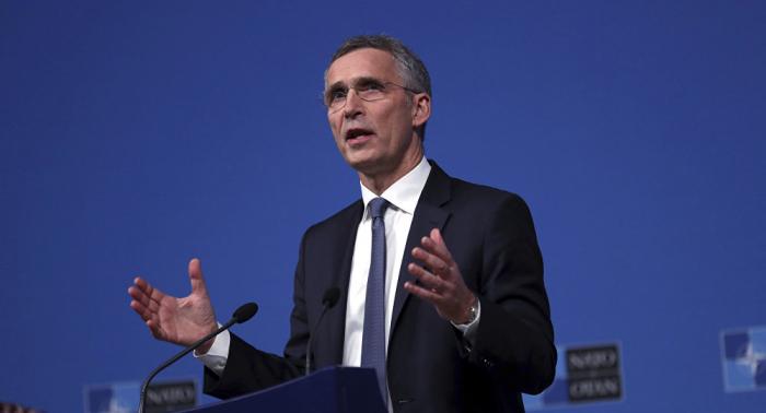 Nato-Chef Stoltenberg spricht vor der Presse