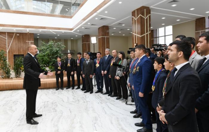 """""""İdmançılarımızla fəxr edirik"""" - İlham Əliyev"""