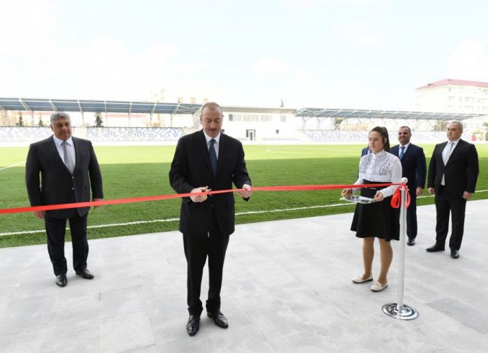 Beyləqanda Olimpiya İdman Kompleksi istifadəyə verildi - FOTOLAR