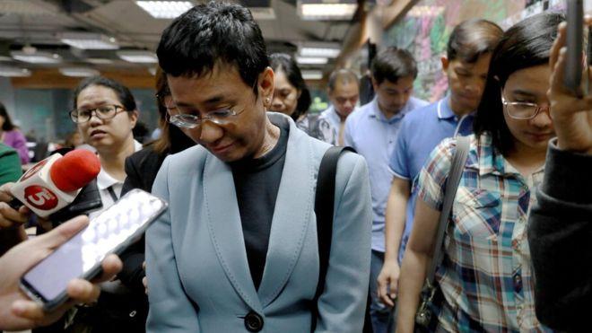 Maria Ressa: Head of Philippines news site Rappler arrested
