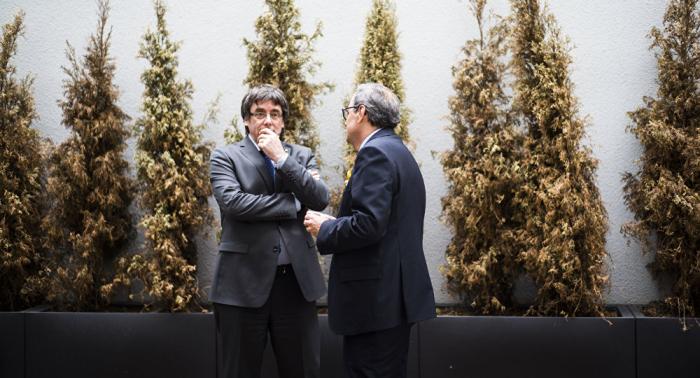 El Parlamento Europeo prohíbe una conferencia de Puigdemont y Torra