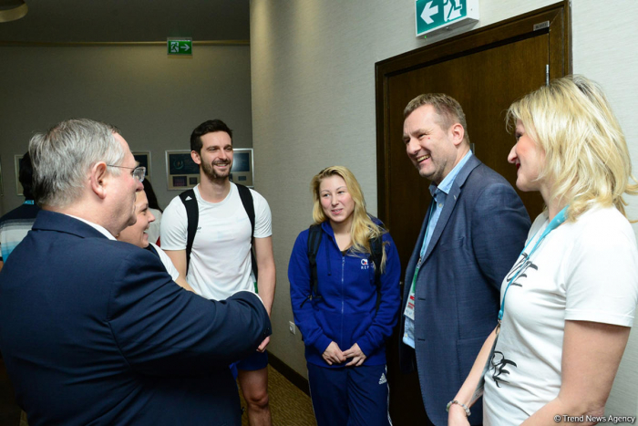 Czech envoy to Azerbaijan meets gymnasts at Trampoline & Tumbling World Cup