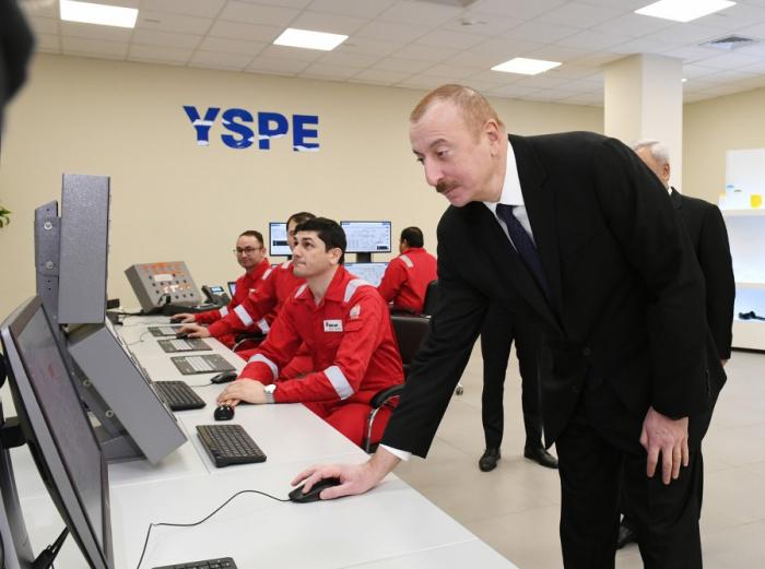 "President Ilham Aliyevattends inauguration of ""SOCAR polymer"" plant in Sumgayit"