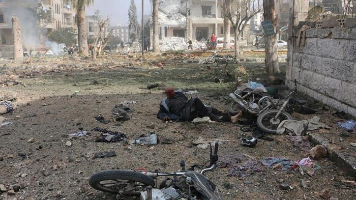 İdlibdə partlayış törədilib: 9 ölü, 37 yaralı
