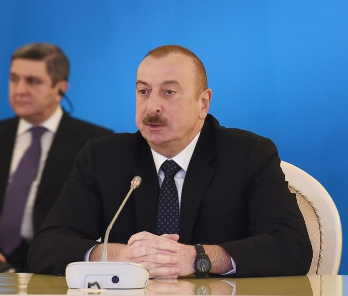 Ilham Aliyev:  Aserbaidschan wird zu einem Verkehrszentrum von Euroasien