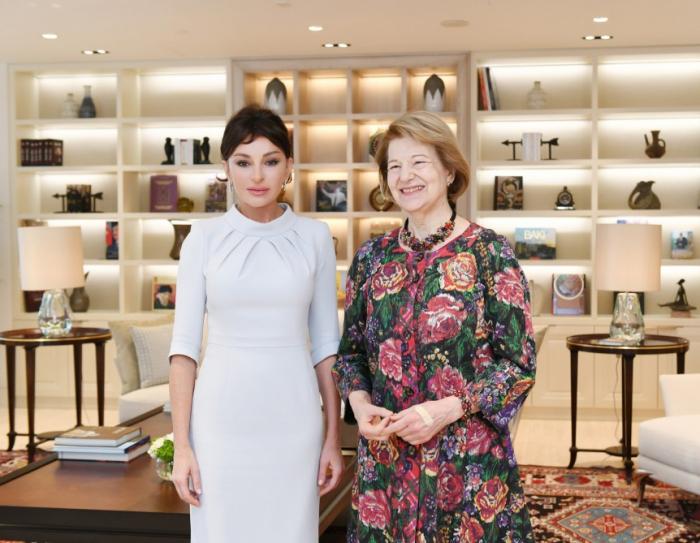 Mehriban Aliyeva rencontre lareprésentante commerciale britannique -  PHOTO