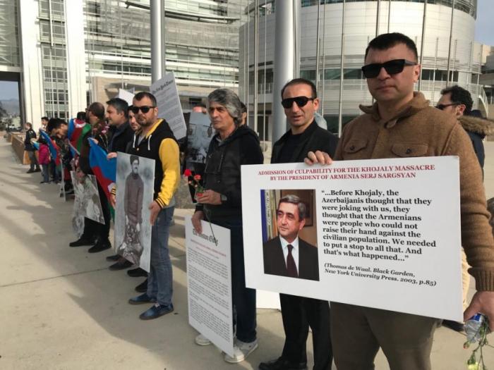 Un rassemblement organisé à l'occasion de l'anniversaire du génocide de Khodjaly à San José