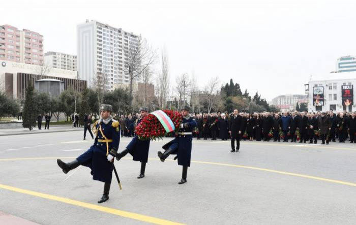 Azerbaijani president attends Khojaly genocide anniversary march - VIDEO