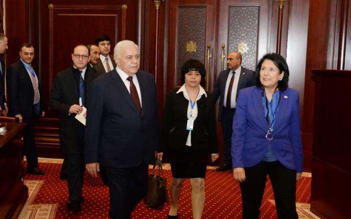 Oqtay Əsədov Gürcüstan Prezidenti ilə görüşüb