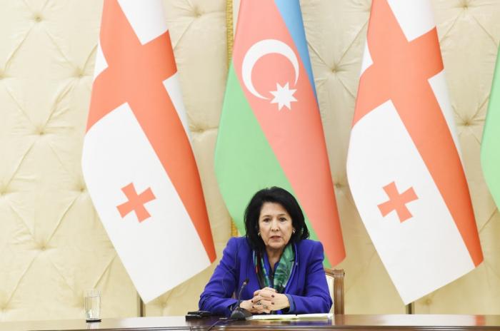 """Gürcüstan prezidenti: """"Münaqişələr hər iki ölkənin faciəsidir"""""""