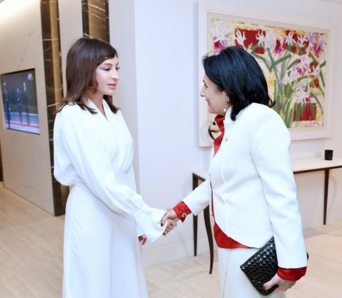 Mehriban Əliyeva Zurabişvili ilə görüşdü - FOTOLAR