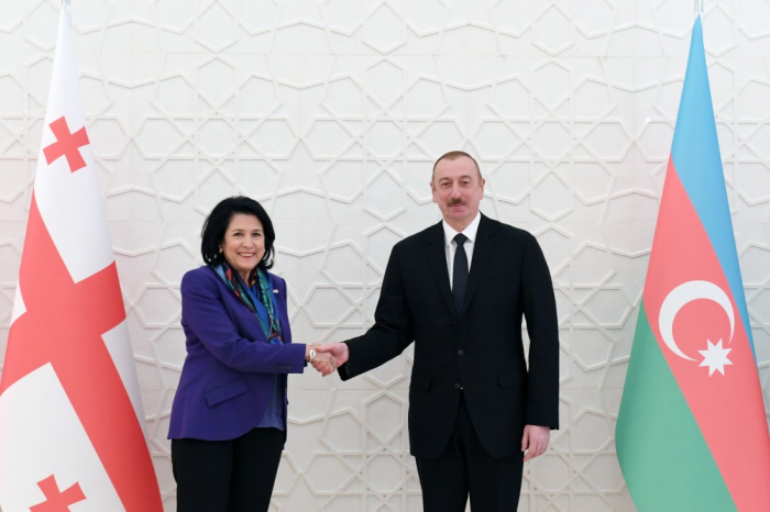 Azerbaijani president holds one-on-one meeting with his Georgian counterpart-UPDATED