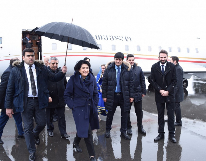 Georgian president visits Gakh region of Azerbaijan -  PHOTOS