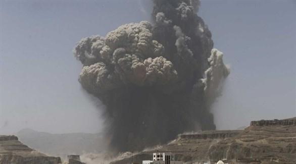 3 غارات جوية للتحالف العربي على حجة اليمنية