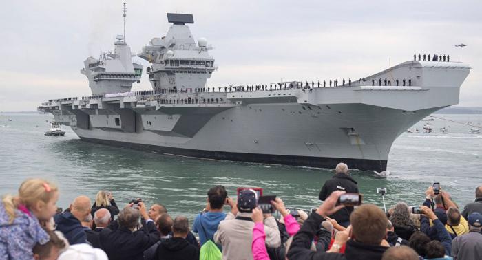 Wozu schickt Großbritannien seinen Flugzeugträger in den Pazifik ?