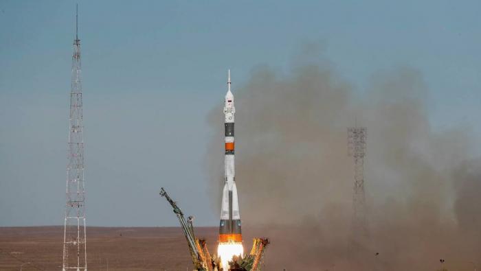Une fusée Soyouz a décollé de Guyane