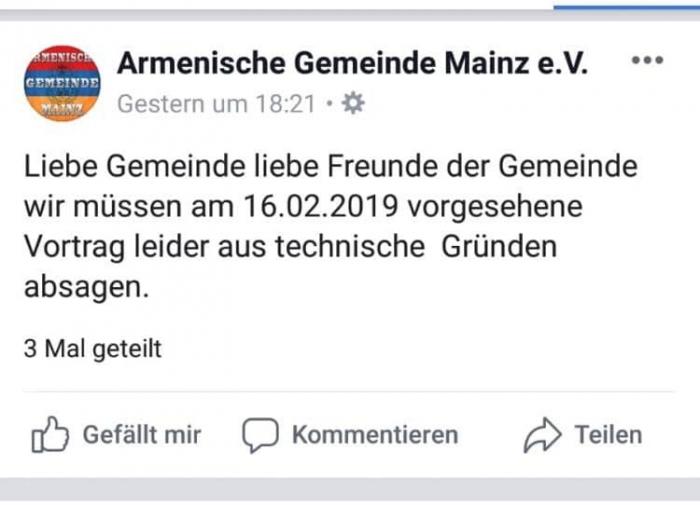 Almaniyada erməni təxribatının qarşısı alınıb