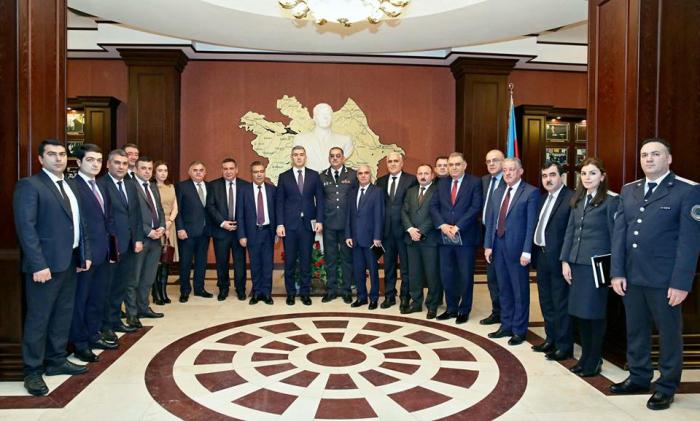 KİV rəhbərləri Dövlət Miqrasiya Xidmətində - FOTOLAR