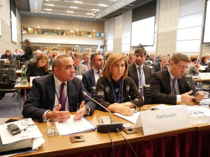 Azay Quliyev ATƏT PA-da münaqişənin həli üçün tələbləri açıqladı